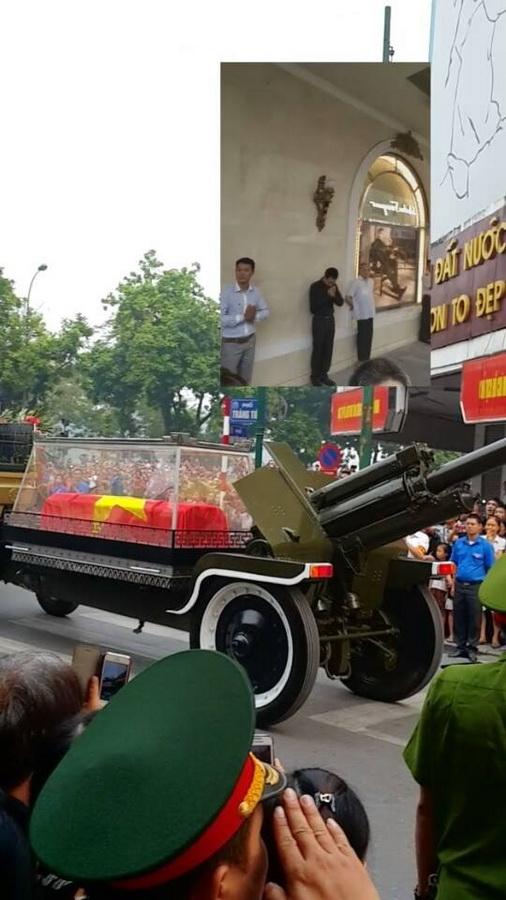 Nhạc sĩ Lưu Thiên Hương cùng những hình ảnh trực tiếp trên trang cá nhân, khi linh cữu của Đại Tướng đi qua, rất nhiều người dân đã bật khóc.   Trang Trần cũng có mặt tại Hà Nội để đưa tiễn Đại tướng về nơi an nghỉ cuối cùng.