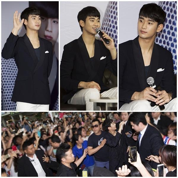 Kim Soo Hyun dành thời gian ít ỏi để quay về Hàn Quốc để gặp fan và thực hiện những hoạt động ngắn hạn
