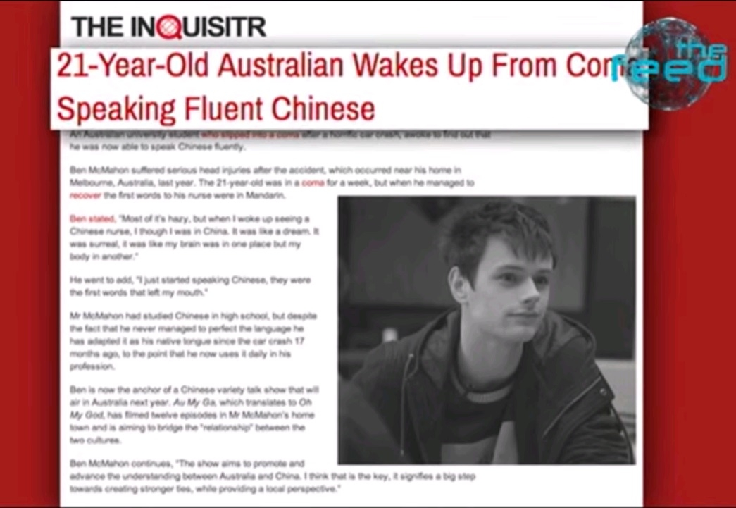 Sau tai nạn giao thông, chàng trai  người Úc...thành người Trung Quốc