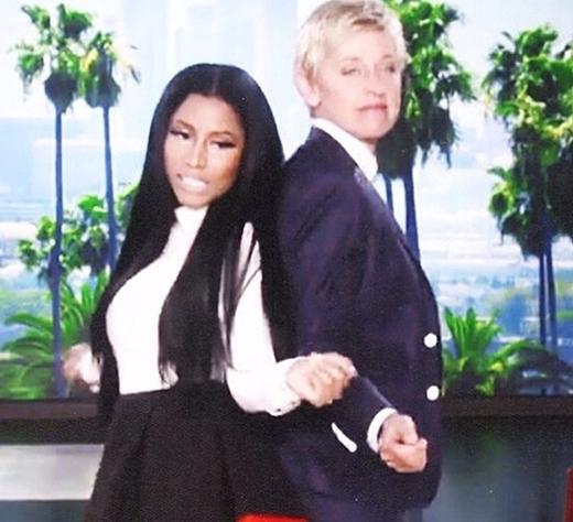Nicki Minaj và Ellen DeGeneres đã có một buổi hợp tác trong một chương trình truyền hình.
