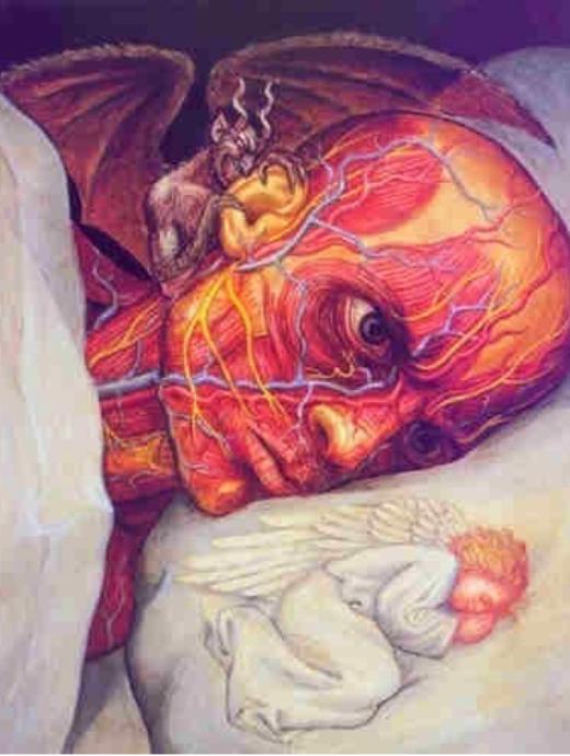 Thực ra thiên thần luôn ở bên cạnh bạn đó thôi. Chỉ là bạn chọn cách nghe theo lời xúi giục của ác quỷ