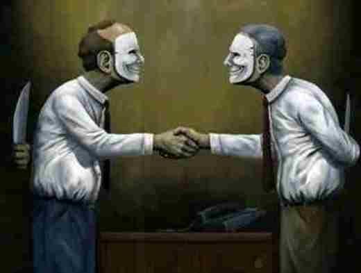 Không có bạn bè vĩnh viễn, chỉ có lợi ích vĩnh viễn. Tuy ở ngoài thì cười nhưng bên trong luôn phòng thủ nhau.