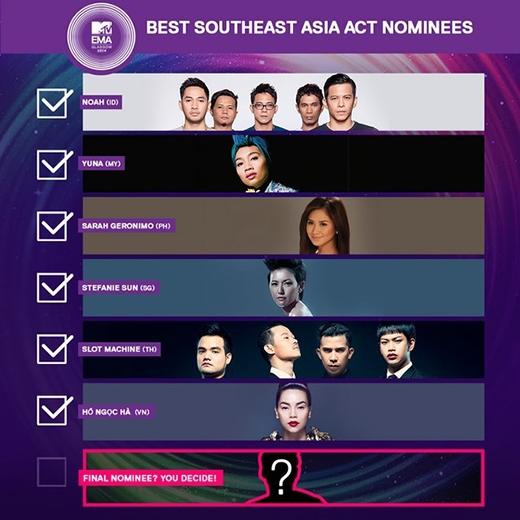 Bảng danh sách nghệ sĩ tham dự MTV EMA 2014 do Thái Lan công bố.