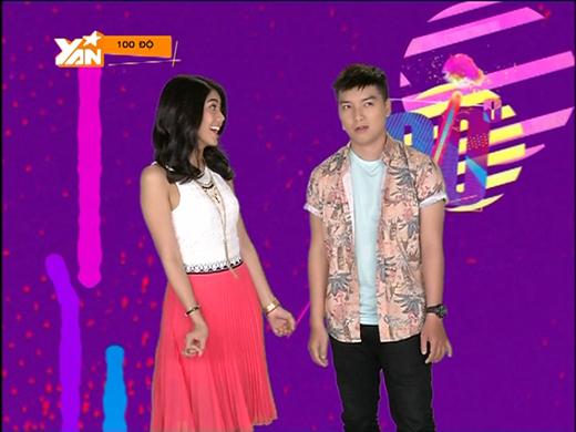 Phương Linhvà Ngọc Trai khá ngượng ngùng trong lần đầu tiên cùng nhau dẫn dắt một chương trình.
