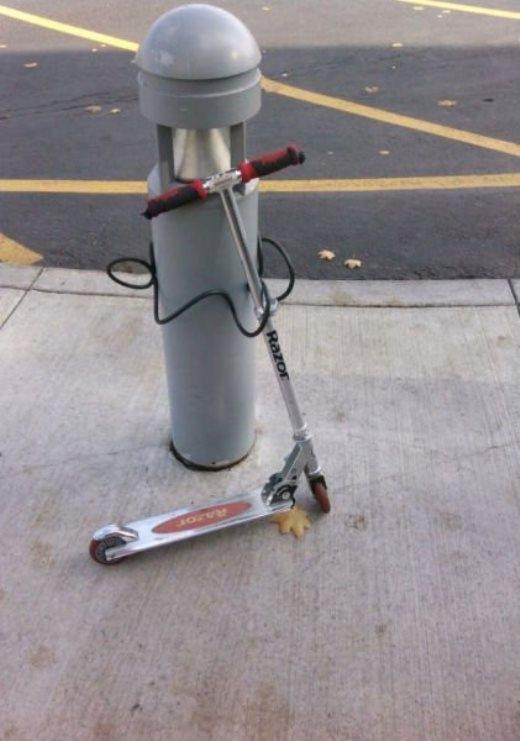 Một cách hiệu quả để chống trộm xe...