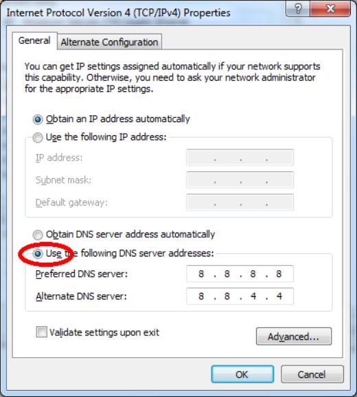 Thêm DNS mới trên máy tính Windows.