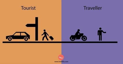 Khách du lịch chọn taxi. Phượt thủ thì chỉ cần một chiếc xe 2 bánh là có thể đi muôn nơi.