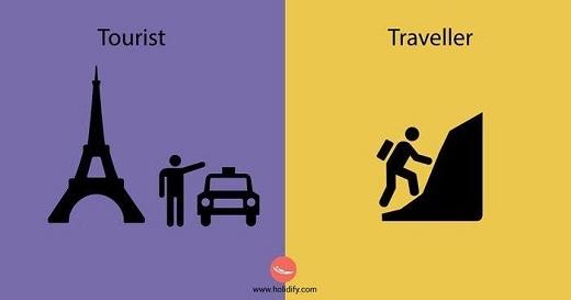 Khách du lịch chọn những địa điểm nổi tiếng, còn phượt thủ chọn những nơi ít ai biết đến.