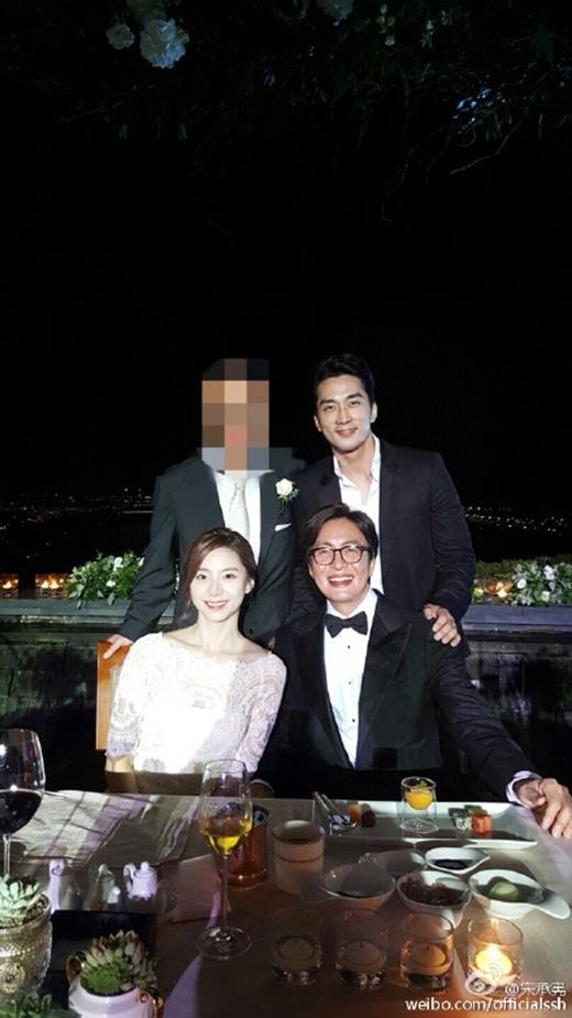 Song Seung Hun trong đám cưới của Bae Yong Joon.