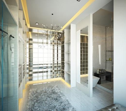 Nhà tắm được bài trí cầu kì, một nguồn tin cho hay cặp đôi đã mất hơn 7 tỉ để thiết kế nội thất trong nhà. - Tin sao Viet - Tin tuc sao Viet - Scandal sao Viet - Tin tuc cua Sao - Tin cua Sao