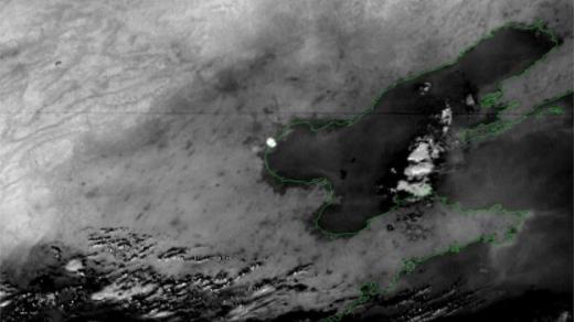 Vụ nổ ở Thiên Tân nhìn qua vệ tinh...