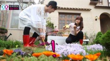 """[We Got Married] """"Thần mưa"""" Key - Ari vụng về lần đầu cùng nhau làm vườn"""