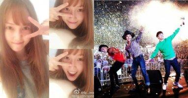 """[Mlog Sao] Jessica khoe hình mái ngố cực đáng yêu, G-Dragon """"quậy"""" cùng Taeyang và Seungri"""