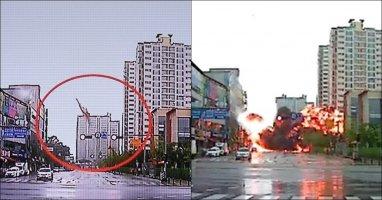 Khoảnh khắc kinh hoàng khi trực thăng Hàn Quốc rơi