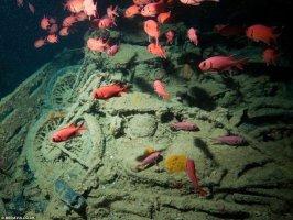 Phát hiện xác tàu bí ẩn chìm sâu duới đáy đại dương