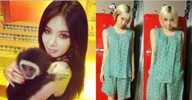 """[Mlog Sao] HyunA khoe hình ôm khỉ, Hyomin lạ lẫm với """"đồ bộ"""""""