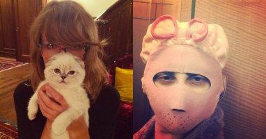 """[Mlog Sao] Taylor Swift """"biến hình"""" mặt mèo chính hiệu, Lady Gaga hù fan """"khóc thét"""""""