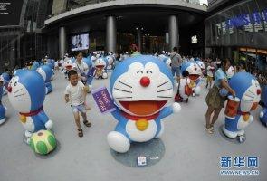 Hơn 100 chú mèo máy Doreamon khổng lồ hội tụ tại Thành Đô