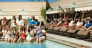 """SNSD """"mát mẻ"""" giữa hồ bơi ở Las Vegas"""