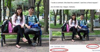 """Bức ảnh cặp đôi trẻ Việt """"gây bão like"""" trên mạng quốc tế"""