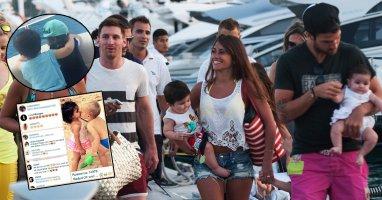 Con trai Messi ghép đôi với con gái Fabregas