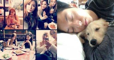 Taeyeon khoe hình hậu trường The TaeTiSeo, Jungshin ôm cún ngủ tỉnh bơ