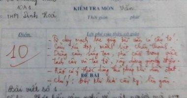 Bài văn điểm 10 khiến giáo viên nể phục