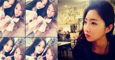 Tiffany khoe hình cùng Taeyeon, Minzy đang mơ mộng trong quán cafe
