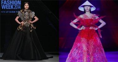 """Lý Giám Tiền và Hoàng Minh Hà trở thành """"điểm sáng"""" tại tuần lễ thời trang"""