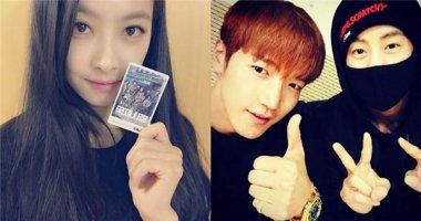 Victoria hào hứng đi xem phim, Jun.K tạo dáng đáng yêu bên Mark (GOT7)