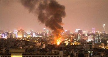 Cháy lớn khu vực gần cầu Lê Văn Sỹ