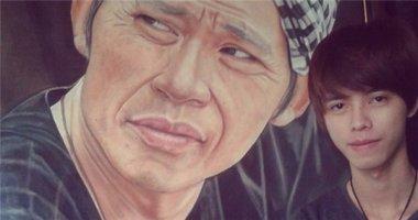 9X vẽ chân dung Hoài Linh sống động như người thật