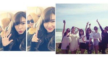 Tiffany háo hức xuất ngoại đầu năm, T-ara thích thú đi chơi biển cùng nhau