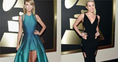 Taylor Swift khoe chân, Miley Cyrus kín đáo bất ngờ tại giải Grammy