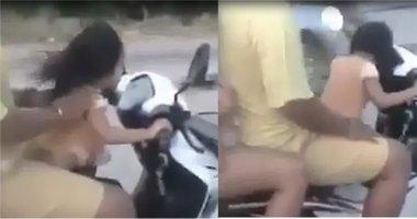 Hoảng hồn với clip bé gái 3 tuổi chở cả nhà 4 người trên xe máy