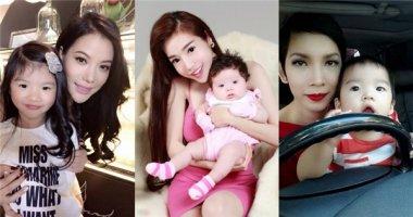 """Những """"tiểu công chúa"""" điệu đà thích mặc váy của sao Việt"""
