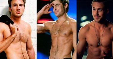 """""""Ngã quỵ"""" với những khuôn ngực trần quyến rũ của """"nam thần"""" Hollywood"""