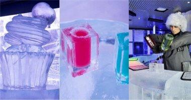 Độc đáo với quán bar làm từ băng tuyết 100%