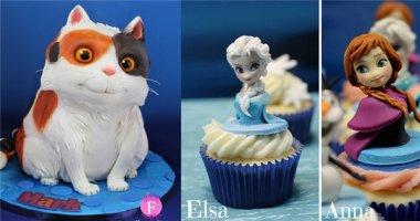 Thích mê với những chiếc bánh cupcake giống hệt nhân vật hoạt hình
