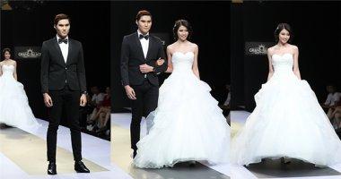 Quỳnh Châu và Quang Hùng tình tứ trong trang phục cưới