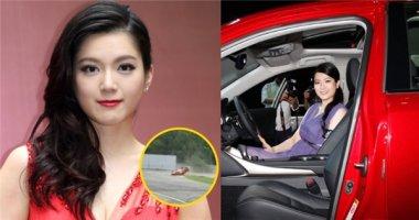 Hoảng hốt khi hoa hậu TVB bị lật xe trên đường đua