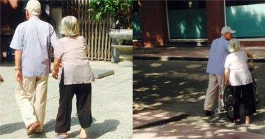 Xúc động mạnh với hình ảnh hai cụ già dắt nhau đi khám bệnh