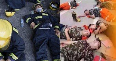 Xót thương lính cứu hỏa chiến đấu hết mình trong vụ cháy Thiên Tân