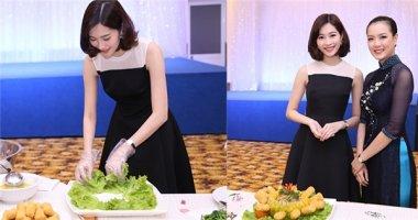 Hoa hậu Thu Thảo trổ tài nữ công gia chánh