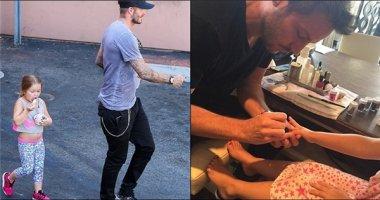 Xốn xang với khoảnh khắc cực yêu của cha con Beckham - Harper
