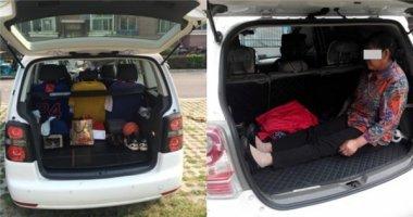 Phẫn nộ cảnh con trai ép mẹ già ngồi bẹp trong cốp xe