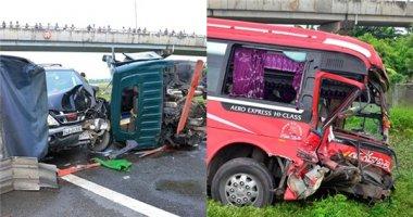 Kinh hoàng 5 ôtô đâm nhau liên hoàn trên đường cao tốc, 1 người chết