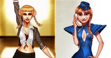 """Khi các nàng công chúa Disney """"lột xác"""" thành Britney Spears"""