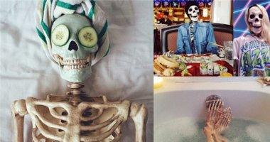 """Bộ xương thích chụp ảnh """"gây sốt""""mạng xã hội"""