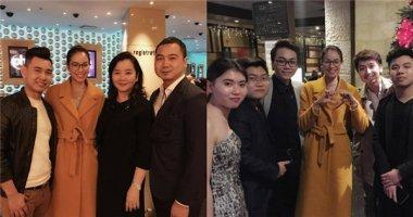 Phạm Hương tươi tắn đi ăn cùng bạn bè sau chung kết HHHV 2015